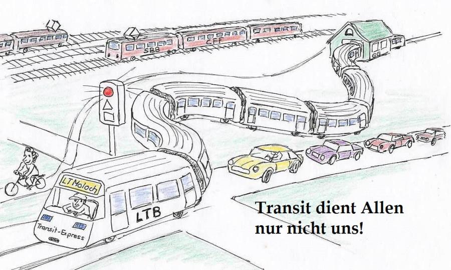 Limmattalbahn Karikatur