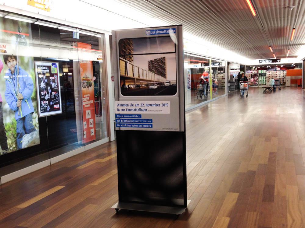 Werbung zur Limmattalbahn