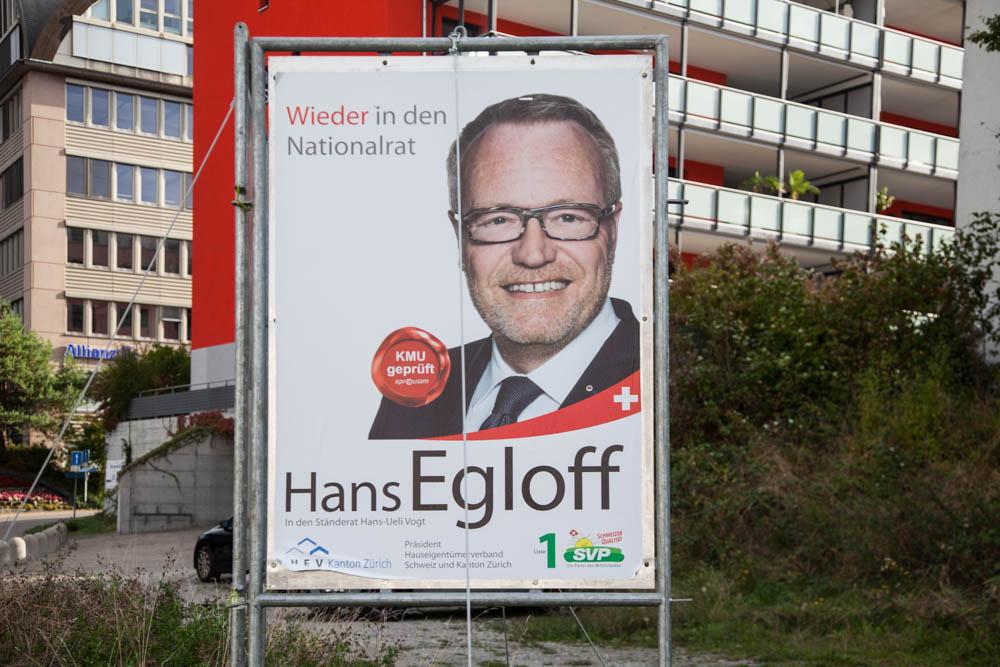 Wahlplakat in Dietikon