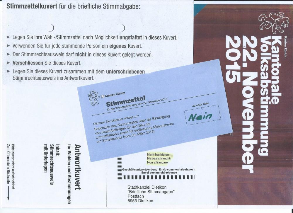 Instruktion zur Abstimmung
