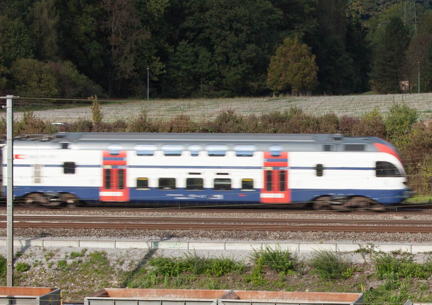 Rasch fahrende S-Bahn